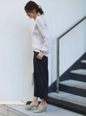Yoshieさんの「ダブルラインバングル(STYLE DELI|スタイルデリ)」を使ったコーディネート
