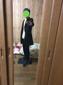 ROMさんの「MEN カシミヤクルーネックセーター(長袖)(ユニクロ|ユニクロ)」を使ったコーディネート