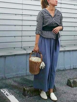 SHOさんの「オリジナルバケツ型バスケット【niko and ...】(niko and...|ニコアンド)」を使ったコーディネート