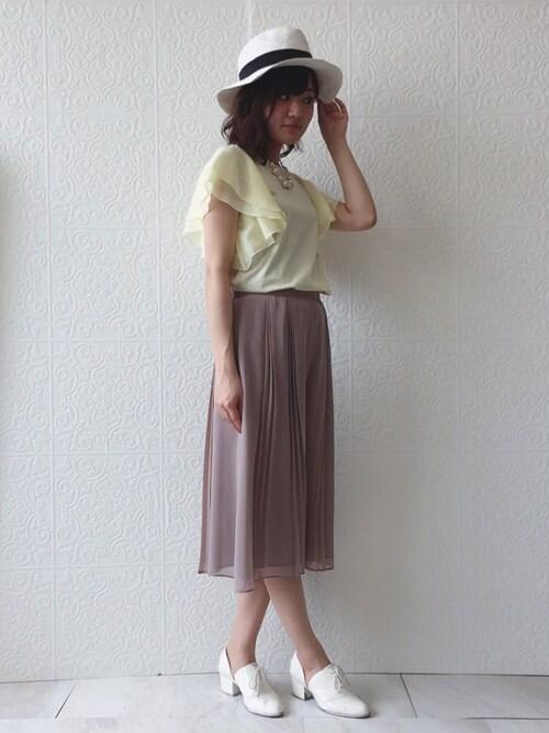 eikoさんの「メタルチューブフェイクパールチョーカー(Rose Tiara)」を使ったコーディネート
