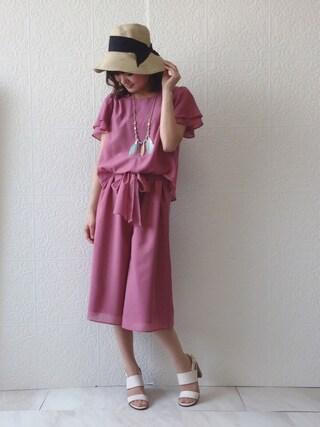Rose Tiara   eikoさんの「Rose Tiara フェザー&フリンジエスニックネックレス」を使ったコーディネート