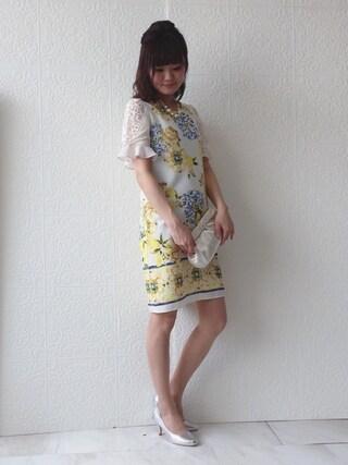 Rose Tiara   eikoさんのクラッチバッグ「Rose Tiara リボン風モチーフサテンパーティーバッグ」を使ったコーディネート