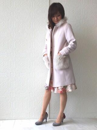 Rose Tiara | eikoさんのその他アウター「Rose Tiara ファーポケット3WAYフーディロングコート」を使ったコーディネート