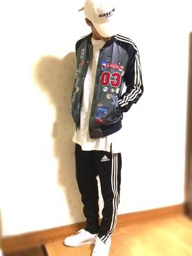 yu-yaさんの(adidas originals|アディダスオリジナルス)を使ったコーディネート