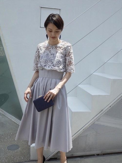 325a43e834922 ayakoさんの「LADYオーバーレースギャザードレス(LAGUNAMOON)」 ...