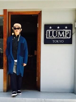 下野宏明さんの「INDIGO CHESTER COAT(WHIZ LIMITED|ウィズリミテッド)」を使ったコーディネート