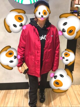 hïrö👾さんの「【WEB限定アイテム】SWEAT HOODIE TOP(X-girl|エックスガール)」を使ったコーディネート