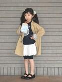 フェリシモキッズさんの「紙パックジュースでも持ち歩ける! キャリーゴクゴク500ml(フェリシモキッズ|フェリシモキッズ)」を使ったコーディネート