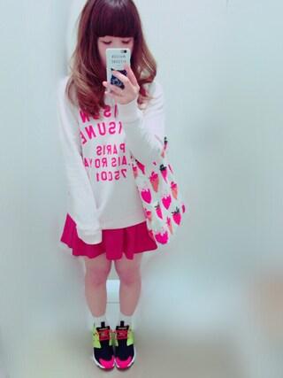 you♡さんの「MAISON KITSUNE/MK PALAIS ROYAL NEWスウェット(MAISON KITSUNE|メゾンキツネ)」を使ったコーディネート