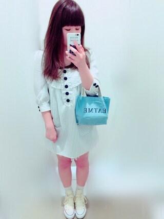 you♡さんの「キャンバスミニトートbag Ⅱ(EATME|イートミー)」を使ったコーディネート