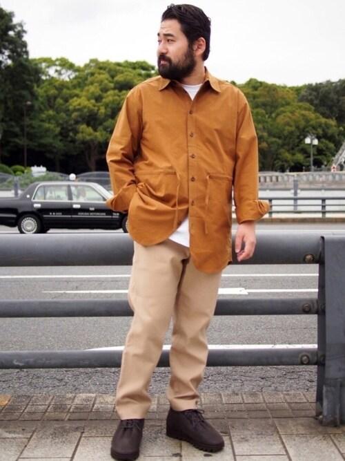 CANNABIS鎌田貴雄さんのシャツ/ブラウス「FRANK LEDER BRUSHED COTTON SHIRT + DRAW STRING (0426029)(FRANK LEDER|フランクリーダー)」を使ったコーディネート