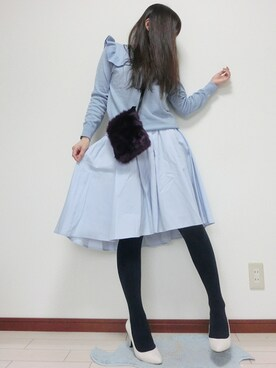 atsuko さんの(みずいろスカート)を使ったコーディネート