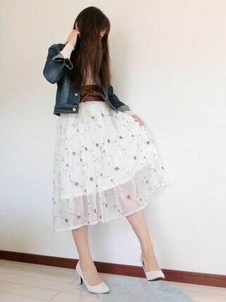 atsuko さんの「すっきりシルエットのデニムジャケット(coca|コカ)」を使ったコーディネート