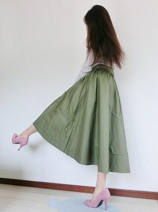atsuko さんの「ミディボリュームスカート(SENSE OF PLACE by URBAN RESEARCH|センス オブ プレイス バイ アーバンリサーチ)」を使ったコーディネート