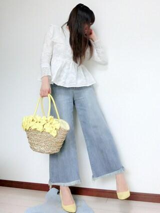atsuko さんの「シーグラスリボントートバッグ(T・S・L ティーエスエル)」を使ったコーディネート