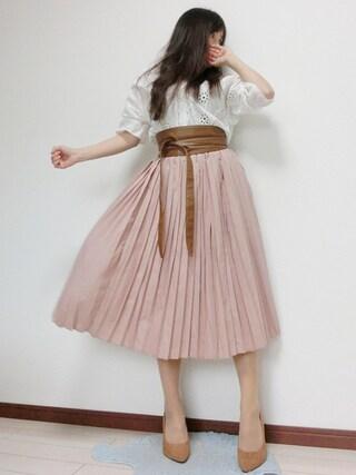 atsuko さんの「足にFITする痛くなりにくい美脚パンプス♪[スエード/エナメル/スムース]トリプルクッション☆機能系9.5cmベーシックヒールパンプス[I870](KOBE LETTUCE KOBE LETTUCE)」を使ったコーディネート