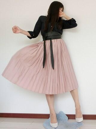atsuko さんの「ウォッシャブルプリーツスカート(r.p.s アールピーエス)」を使ったコーディネート