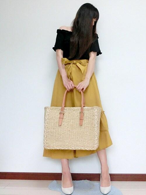 atsuko さんの「切り替えフレアスカート(PAGEBOY)」を使ったコーディネート