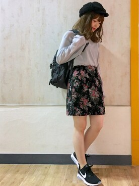 PAGEBOY 仙台エスパル|HONOKAさんの「シースルーフロッキーベロアプルオーバー(PAGEBOY)」を使ったコーディネート