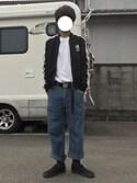 くろまめさんの「【adicolor】 オリジナルス ジャージ[ADICOLOR TRACK TOP](adidas アディダス)」を使ったコーディネート