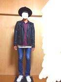 RYOTAさんの「ドレープオープンカラーシャツ(JUNRed|ザラ)」を使ったコーディネート