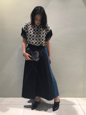 MIDWEST TOKYO WOMEN Risa Suzukiさんの(muller of yoshiokubo ミュラー オブ ヨシオクボ)を使ったコーディネート