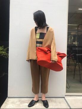 MIDWEST TOKYO WOMEN|Risa Suzukiさんの(muller of yoshiokubo|ミュラー オブ ヨシオクボ)を使ったコーディネート