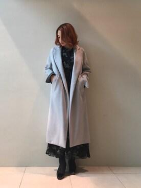 MIDWEST TOKYO WOMEN|Risa Suzukiさんの「トップリバー チェスターコート(ENFOLD)」を使ったコーディネート