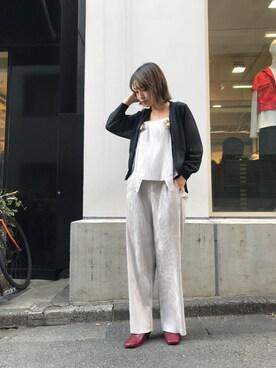MIDWEST TOKYO WOMEN|Risa Suzukiさんの「PONTI フリンジカーディガン(PONTI)」を使ったコーディネート