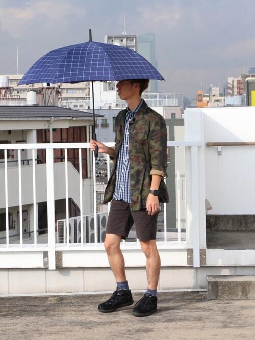 w.p.c-officialさんの「Wpc.UNISEX雨傘 シングルチェックネイビー(w.p.c)」を使ったコーディネート