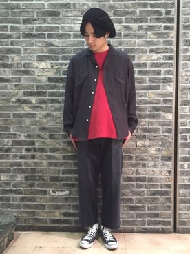 RAGEBLUE町田モディ店|谷勇希さんのハンチング/ベレー帽「サーモベレー/743053(RAGEBLUE|レイジブルー)」を使ったコーディネート