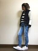 yumiさんの「レザースタジャン(FREAK'S STORE|フリークスストア)」を使ったコーディネート