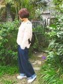 MAIKOさんの「【ロングセラー】ハートフープピアス【大人気】(phoebe|フィービィー)」を使ったコーディネート