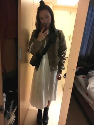 「UR 別注MA-1 BLUSON( ALPHA INDUSTRIES×URBAN RESEARCH iD)(URBAN RESEARCH)」 using this Jasmine:) looks