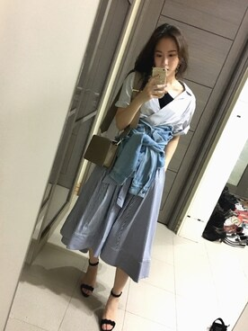 「リボンシャツワンピース(FRAY I.D)」 using this Jasmine:) looks