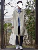 Koshiroさんの「イージーアンクルパンツ(ウールライク・レングス68~72cm)(ユニクロ|ユニクロ)」を使ったコーディネート