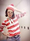 am.    ☺︎さんの「[costume/コスチューム]ウォーリーを探せ ウェンダ(大人用) コスプレ 衣装 レディース メンズ ユニセックス(SILVER BULLET|シルバーバレット)」を使ったコーディネート