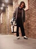 am.    ☺︎さんの「16AW新色タックコクーンパンツ(ADAM ET ROPE'|アダム エ ロペ)」を使ったコーディネート