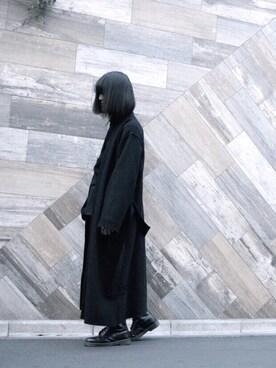 「Ann Demeulemeester - ラップコート - men - ナイロン/アルパカ - L(Ann DEMEULEMEESTER)」 using this mao looks