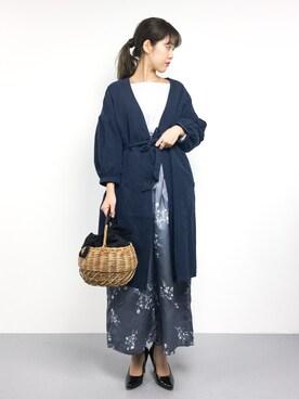 ZOZOTOWN yukiさんの「ボリューム袖コート(reca)」を使ったコーディネート