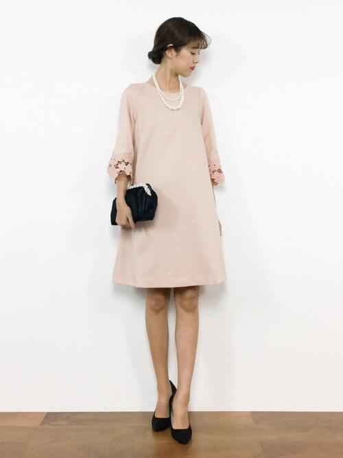 結婚式 服装 コーデ ピンク
