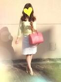 hiroさんの「リンダ ビジネストートバッグ(FURLA フルラ)」を使ったコーディネート