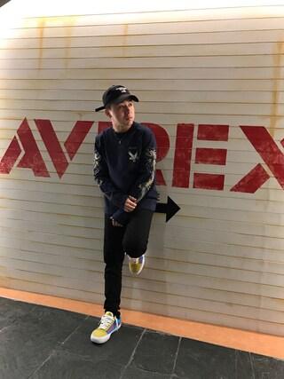 「【直営店限定】 avirex/ アヴィレックス/ DS AVI L SUKA L/S TEE/ スカ ロングスリーブティー/ Men's(AVIREX)」 using this AVIREX  福岡|NΔRUKIX looks