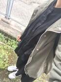 ゆいちょ ◡̈✩さんの「フーデットミリタリージャケット(GRL|グレイル)」を使ったコーディネート