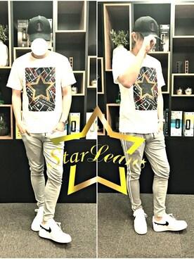 「StarLean スターリアン」公式通販サイト|StarLean運営さんの「スターグラフィックプリントTシャツ(StarLean)」を使ったコーディネート