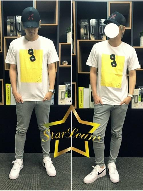 StarLean運営さんの「スターリアン【公式】 SEVENクロス刺繍メッシュキャップ(StarLean)」を使ったコーディネート
