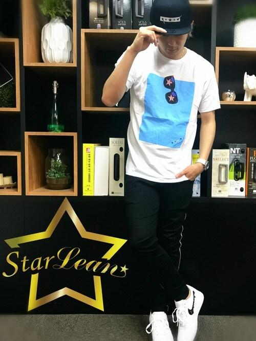 StarLean運営さんの「サングラスプリントTシャツ (USA)(StarLean)」を使ったコーディネート