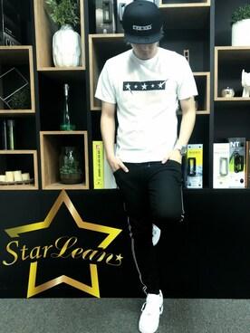 「StarLean スターリアン」公式通販サイト|StarLean運営さんの「FIVE STARロゴ刺繍ベースボールキャップ(StarLean)」を使ったコーディネート