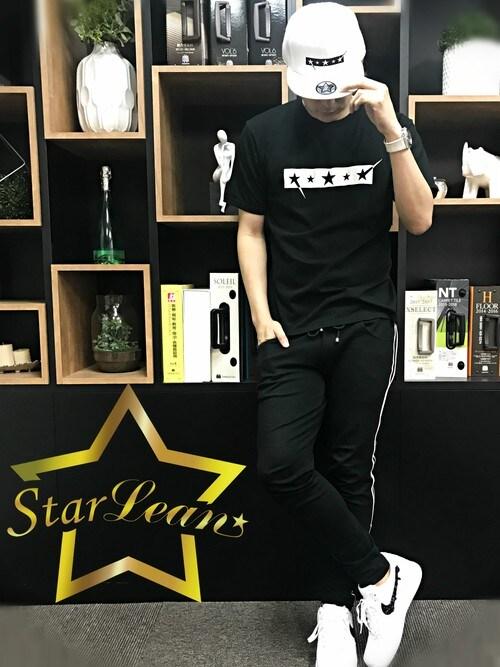 StarLean運営さんの「スターリアン【公式】 FIVE STARプリントTシャツ(StarLean)」を使ったコーディネート