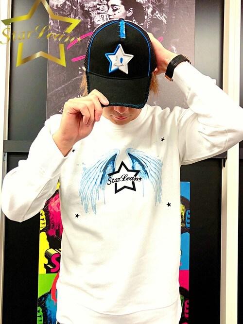 StarLean運営さんの「スターリアン【公式】 スマイルスター刺繍メッシュキャップ(BLUE×SILVER)(StarLean)」を使ったコーディネート